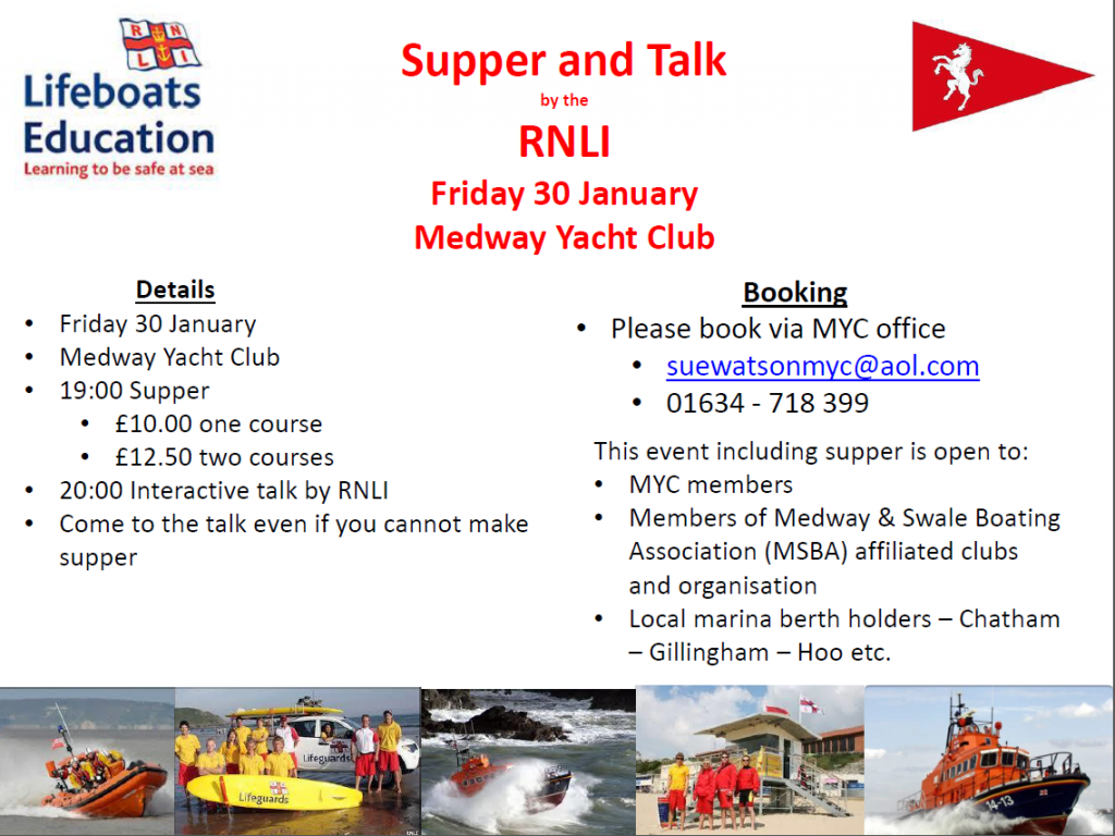 RNLI talk at MYC