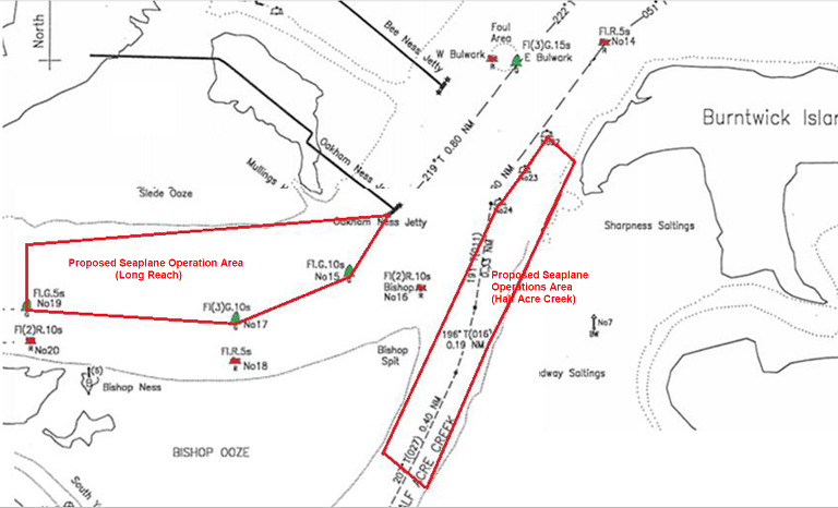 Proposed seaplane ops areas