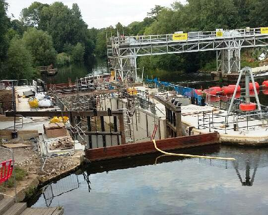East Farleigh lock nearly ready
