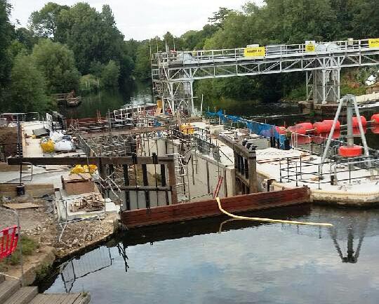 East Farleigh lock nearly ready